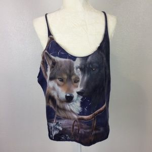 The Mountain Wolf Tank Top Tee Shirt Size M